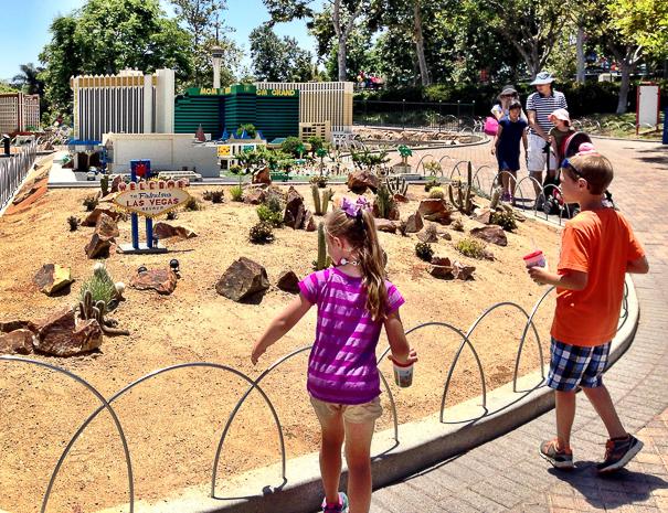 Las Vegas Strip at Legoland California - San Diego with kids