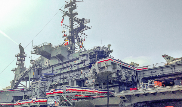 Visiting the USS Midway - San Diego with kids