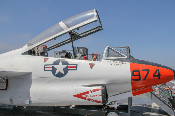Exploring the planes at the USS Midway Museum - best things to do in San Diego with kids