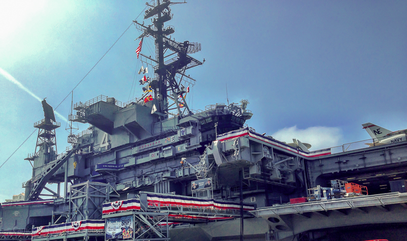 San Diego for kids - visiting the USS MIdway Museum