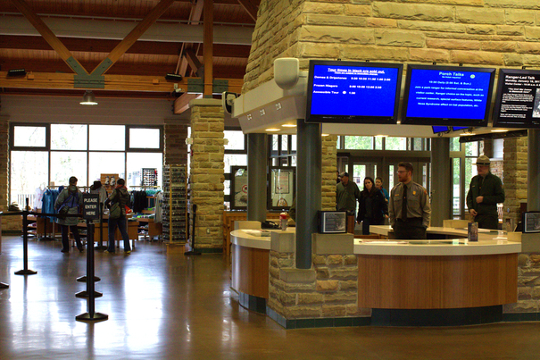 Inside the Mammoth Cave Visitor Center