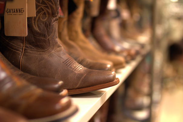 Cowboy boots for miles...