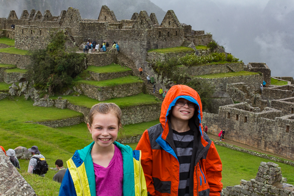 Machu Picchu Peru with kids