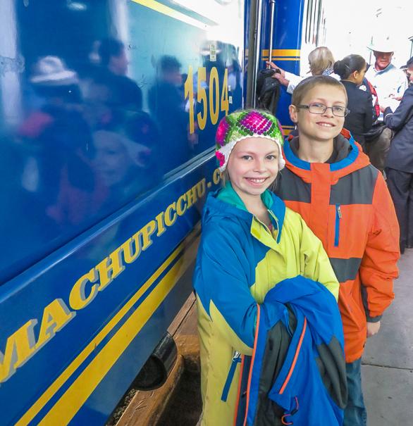 Peru Rail - visiting Machu Picchu with kids