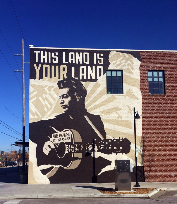 Woody Guthrie Center Mural