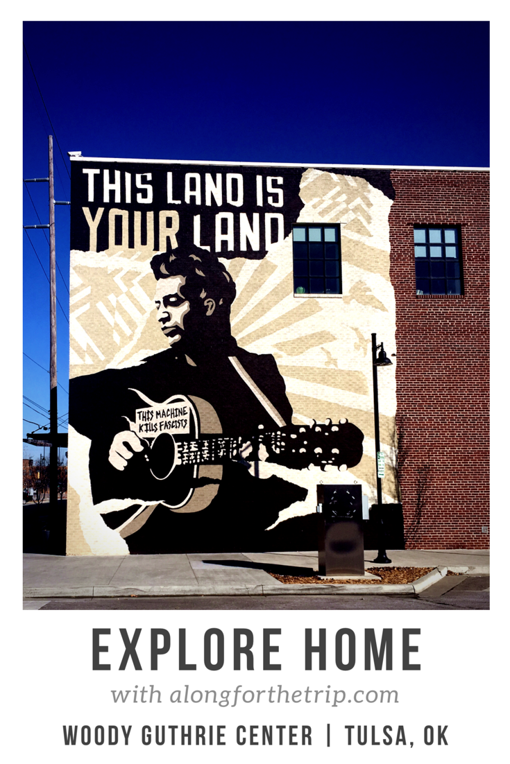 The Woody Guthrie Center is a gem of a museum located in Tulsa, OK. Hop on Route 66 to learn about and explore one of America's musical treasures! #familytravel #woodyguthrie #Tulsa