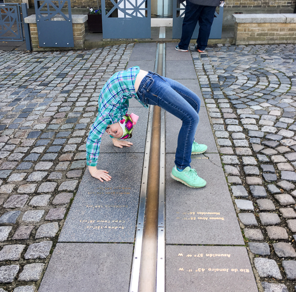 Visit the Prime Meridian in London with kids.