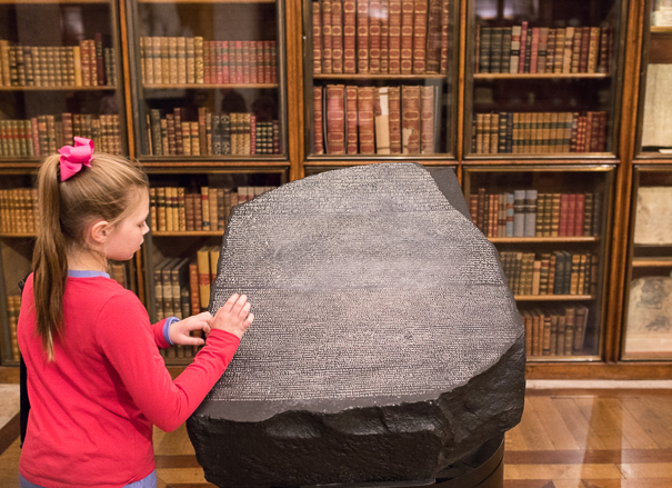 Finding the Rosetta Stone in London with kids