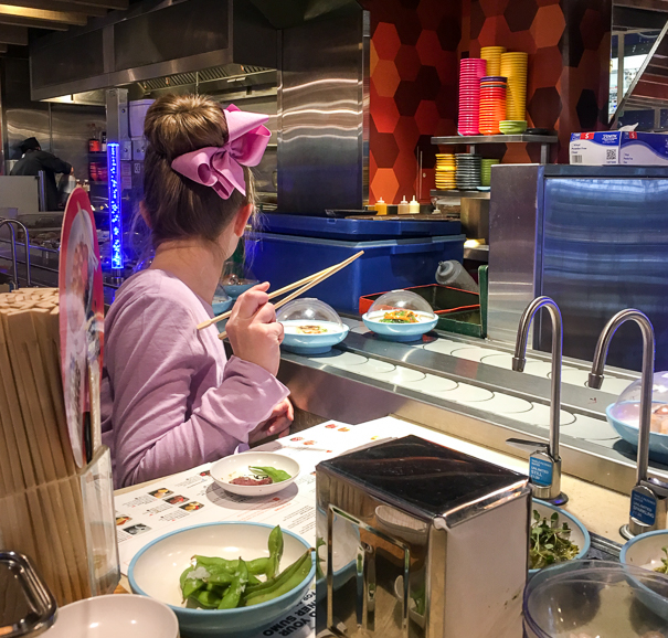 Yo! Sushi - things for kids to do in London