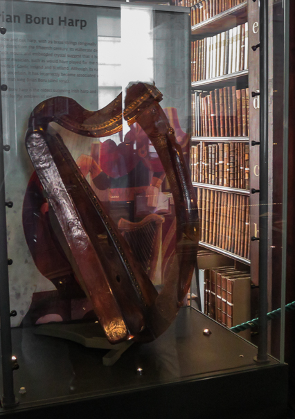 Brian Boru Harp at Trinity College Library - things to do in Dublin with kids
