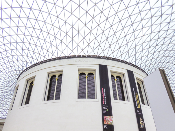 Exploring the British Museum in London with kids