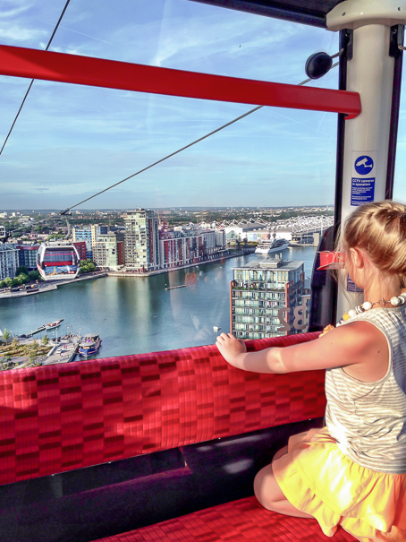 Emirates Air Line - London with kids