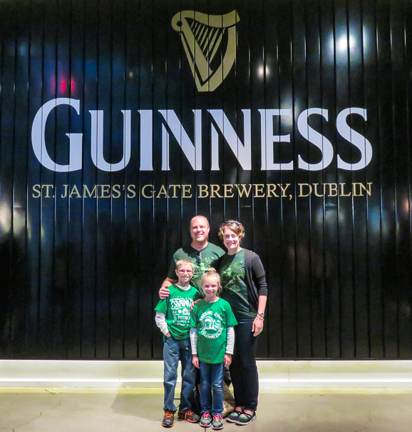 Guinness Storehouse visiting Dublin with kids