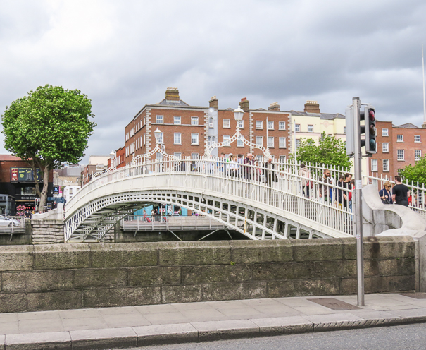 Ha'penny Bridge - Dublin Ireland with kids