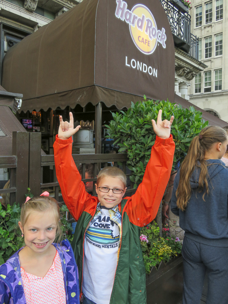 Hard Rock Cafe London with kids
