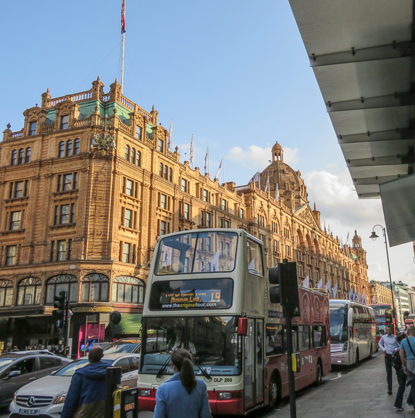 Shopping at Harrods in London with kids