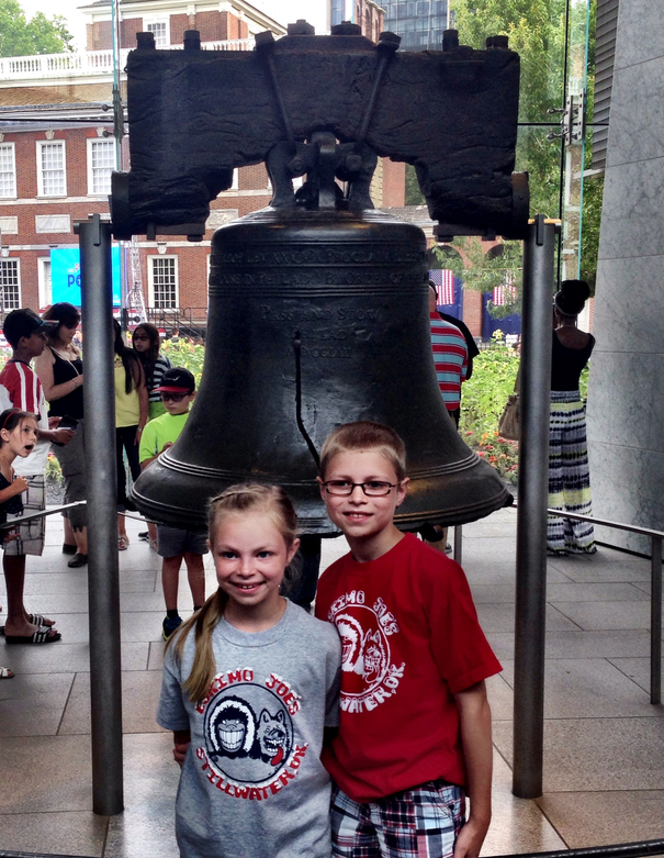Visiting the Liberty Bell with kids