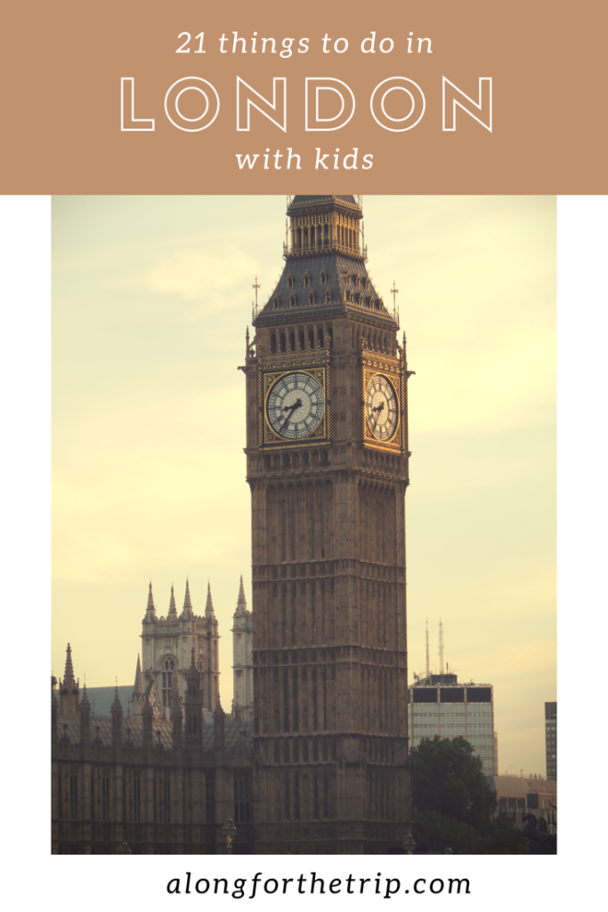 London is a great place to visit with kids. With so many family-friendly things to do, you'll always have something to see and experience. Here's 21 things to do in London with kids. We know you'll love it! | #LondonWithKids #familytravel