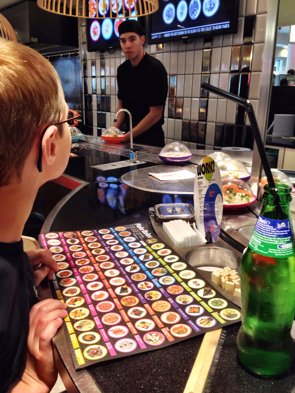 Yo Sushi-Eating in London with kids