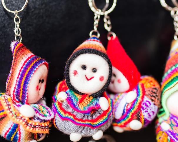 Peru Chinchero keychain souvenirs