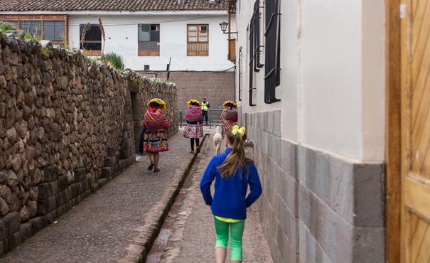 Walking the streets of Cusco Peru