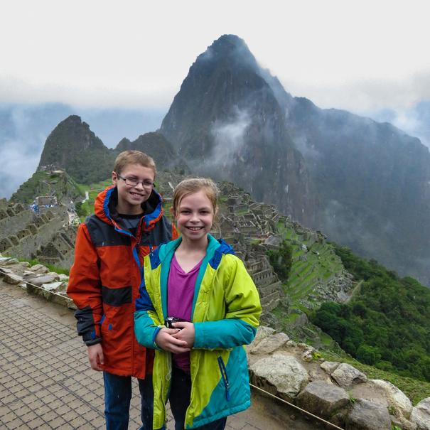 Kids at Machu Picchu Peru