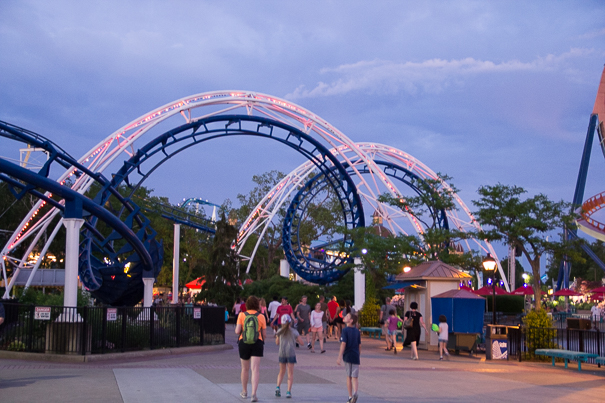 Corkscrew Coaster at Cedar Point Amusement Park