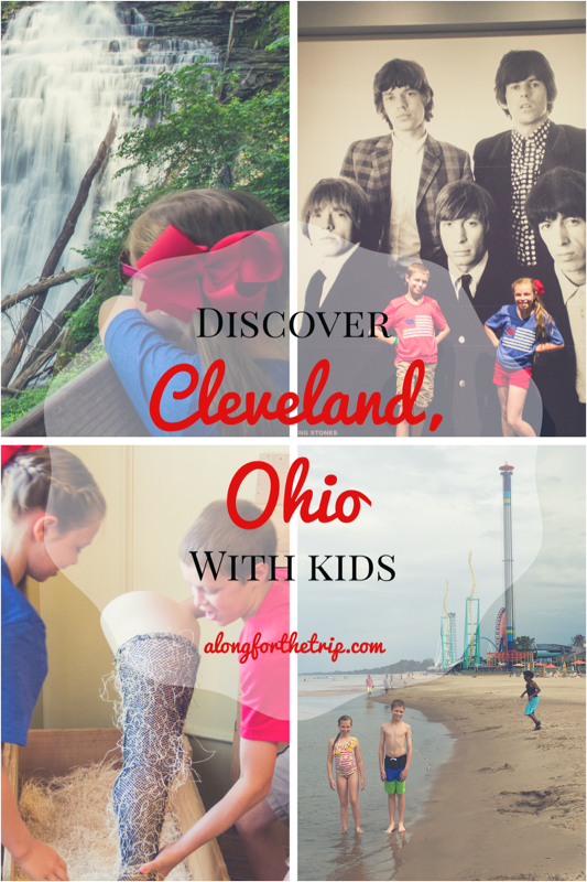 Cleveland with kids is super fun! Museums, natural beauty, and world-class roller coasters nearby make for an awesome family road trip. Cleveland Rocks! #familytravel #Cleveland #Ohio #rockhall