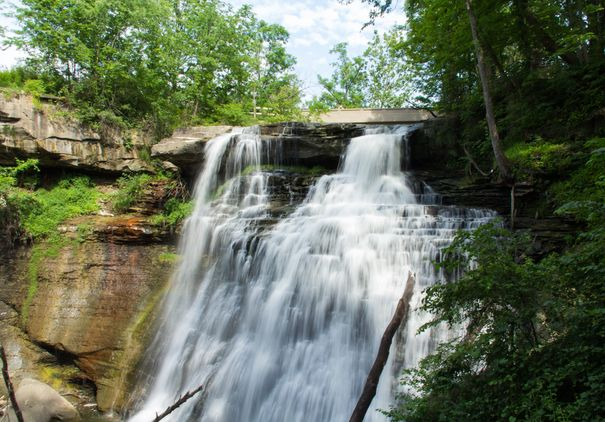 Visiting Brandywine Falls at Cuyahoga Valley National Park.