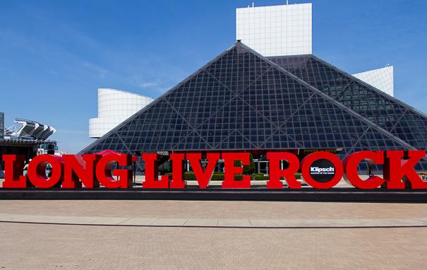 Rock Hall Entrance Cleveland OH
