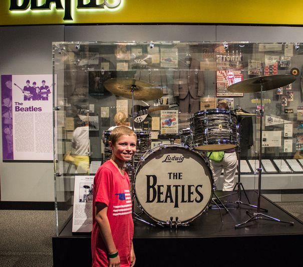 Rock Hall Ringo Starr Beatles Drums