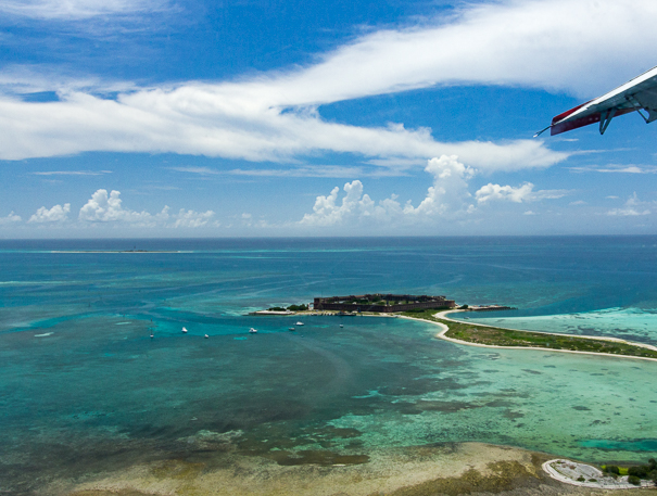 Dry Tortugas National Park from above