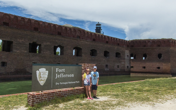 things to do in Key West Florida with kids - tour Fort Jefferson and Dry Tortugas National Park