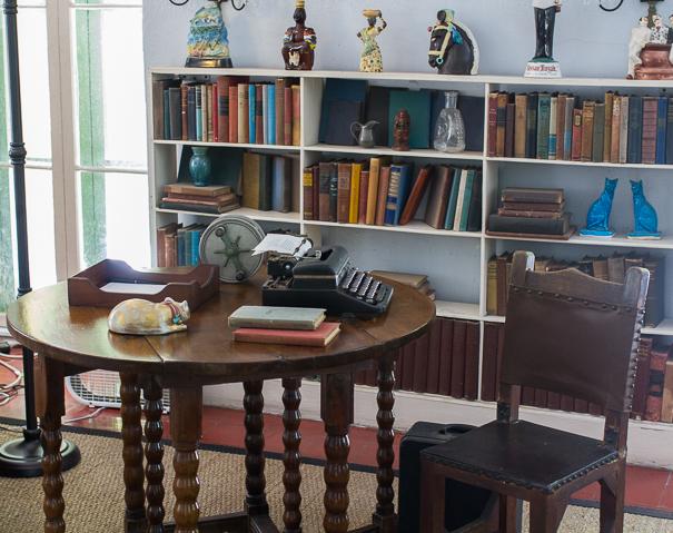 Ernest Hemmingway's study at Hemingway House Key West
