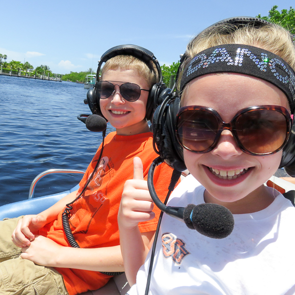 Air boats in the Everglades with kids