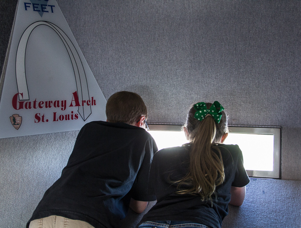 Ride the tram to the top of the Gateway Arch with kids