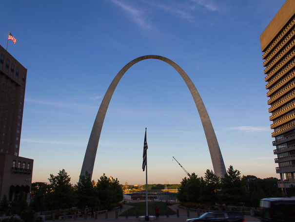 Gateway Arch with kids in St. Louis