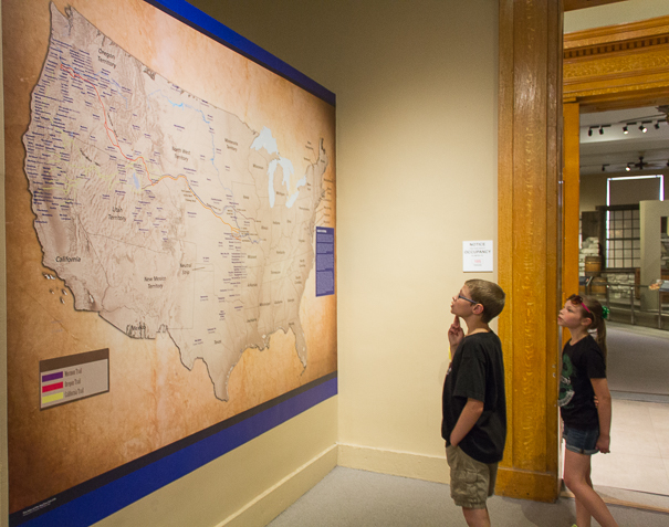 Museum of Westward Expansion with kids in St. Louis