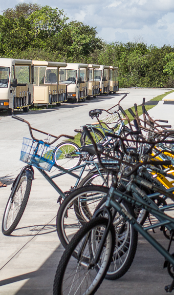 rent a bike at Shark Valley Visitor center - visiting Everglades with kids