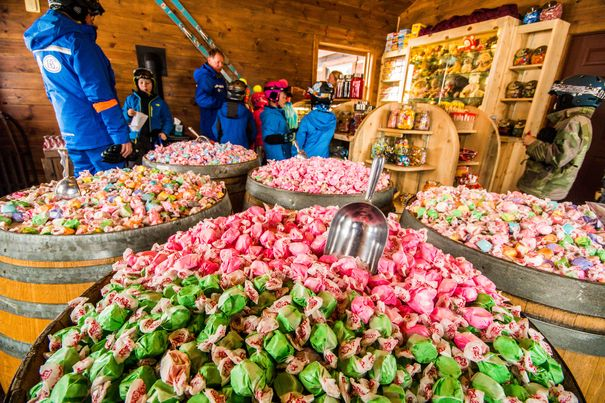 Candy Cabin at Beaver Creek CO - one of the best ski resorts for kids