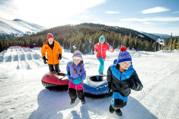 most family friendly ski resorts - snow tubing at Keystone CO
