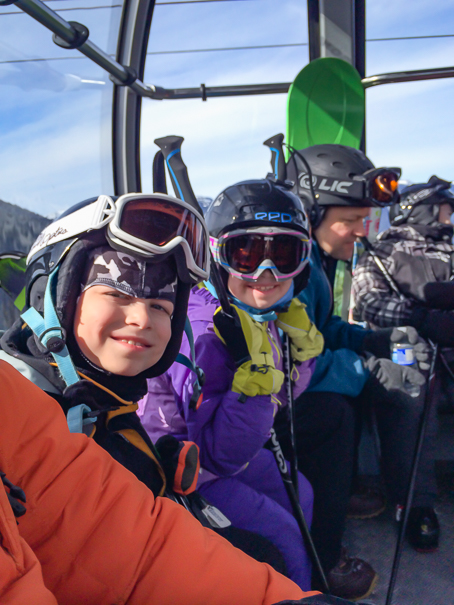 Riding the Peak 2 Peak Gondola at Whistler with kids