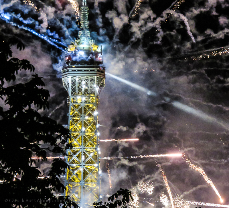 Photograph of Bastille Day in Paris with our canon small camera.