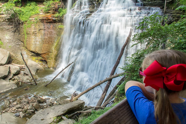 Bradywine Falls - Cuyahoga Valley National Park with kids