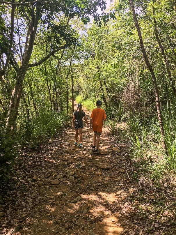 Hiking around Virgin Islands National Park with kids