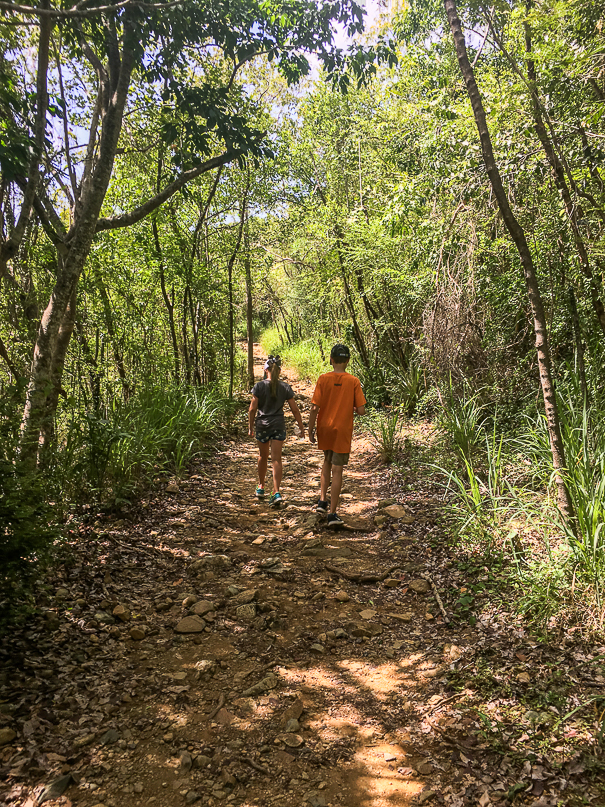 Hiking around Virgin Islands National Park with kids
