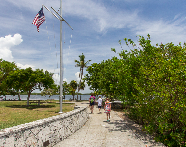 Hiking at Biscayne National Park in Florida