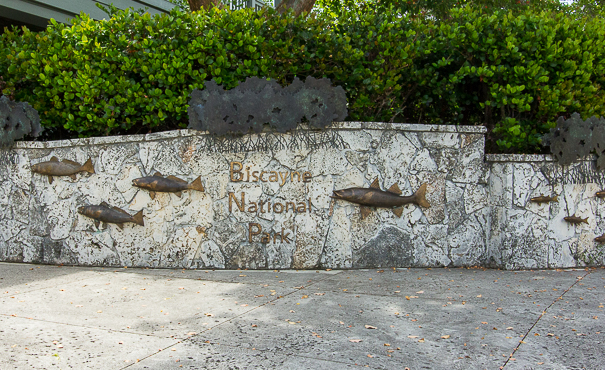 Entrance to the Dante Fascell Visitor Center at Biscayne National Park