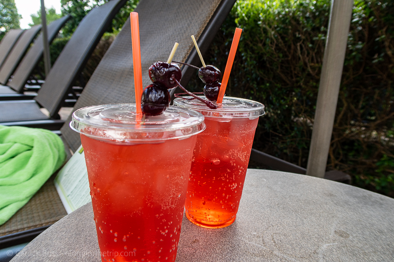 Poolside refreshments at the Hilton Orlando Bonnet Creek Orlando Florida hotels