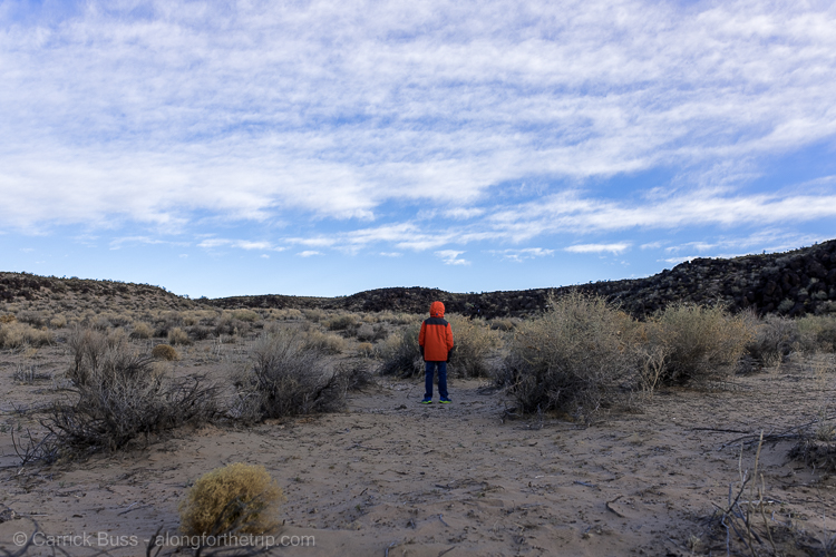 Stuff for kids to do in Albuquerque - hiking in Petroglyph National Monument